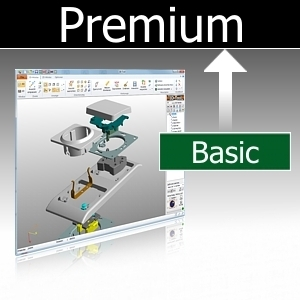Upgrade basic to premium incl 3d nativecad converter 3d for Basic cad online