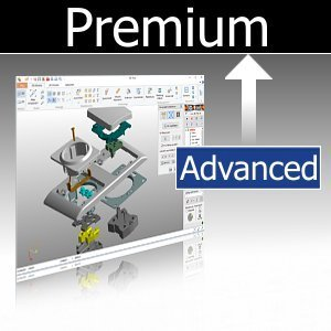 Upgrade Advanced auf Premium inkl. 3D-NativeCAD Converter